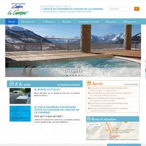 copie d'écran site office de tourisme de La Chambre