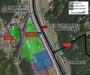 plan ZAE Les Chavannes en Maurienne / La Chambre (Usine Rouge) et Saint Rémy de Maurienne
