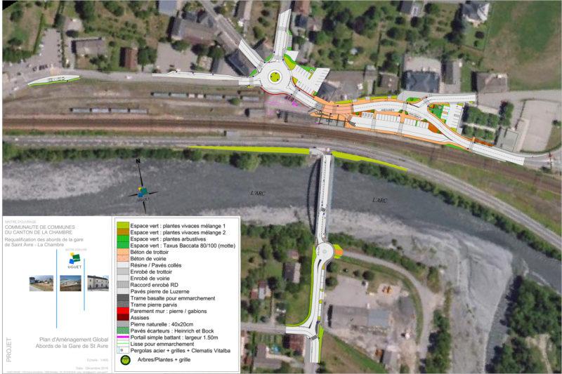plan Requalification et sécurisation des abords de la gare de Saint Avre La Chambre