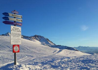 pistes de ski de Saint François Longchamp, Grand Domaine, col de la Madeleine